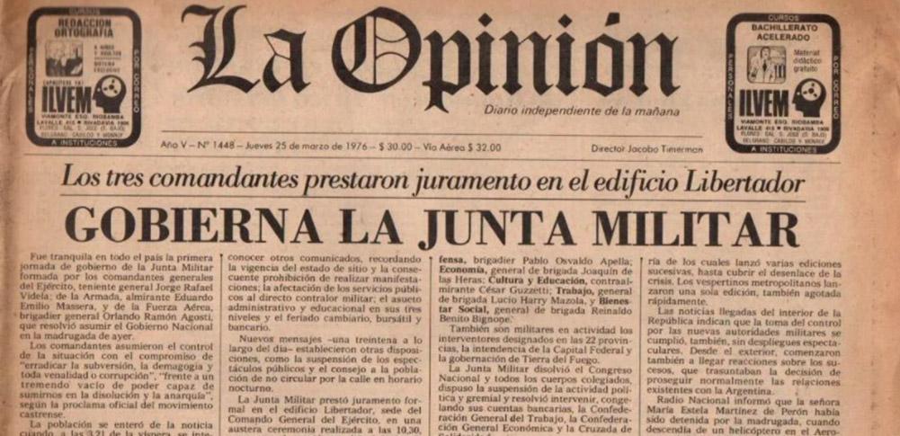 <em>La Opinión,</em> Timerman y la dictadura